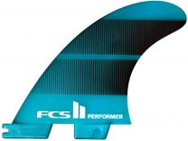 FCS II Performer Neo Glass Large Tri fin - Black/gradient