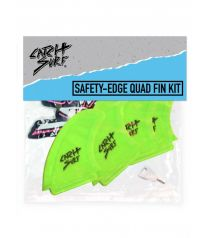 Catch Surf Hi-Perf Safety Edge Quad Fin Lime